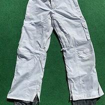 Burton Stow Cargo Women's Small White Waterproof Snowboard Ski Pants Pockets Photo