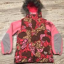 Burton Sugar & Spice Ski Snowboard Vest Hooded Pink & Brown Camo Child Xl /jr Xs Photo