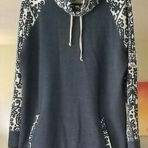 Burton Us Snowboard Hoodie  Navy and White Great for 4th of July Sz Lg  Photo