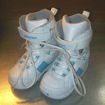 Burton White and Light Blue Snow Boots - Kids 3 Photo