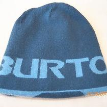 Burton Winter and Ski Hat Beanie Reversiable Light Blue and Blue Photo