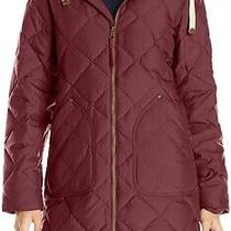 Burton Women's Coat Red Size Medium M Bixy Down Fleece Quilted Hooded 284 199 Photo