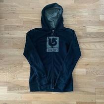 Burton Women's Jacket Size S Small Grey/black Long Sleeve Hoodie Zip Up Photo