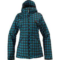 Burton Women's Man Eater Jacket - Size 1 - Argon Plaid - Nwt - Reg 300  Photo