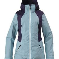 Burton Women's Theory Jacket Blu Bird Day/mlbry Med Nwt Photo