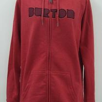 Burton Womens Full-Zip Hoodie Sz Xl - Heather Cardinal Photo