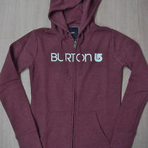 Burton Womens Her Logo Basic Full-Zip Hoodie Sz Xs - Heather Burgundy Photo