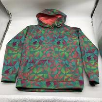 Burton Youth Fleece Lined Hoodie Blue Red Green Youth Large 14/16 Photo