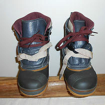 Burtons Work  Snow Board Snow Mobile Boots Gray  Size W6 Photo