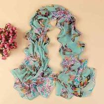 Butterfly Cashmere Printed Chiffon Shawl Beach Sunscreen Scarf Silk Schal Stola  Photo
