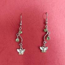 Butterfly Dangle Earrings Swarovski Crystal Party Earrings Perfect Gift E1101 Photo