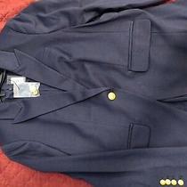 Button Peak Lapel Knit Blazer Size L Photo