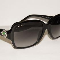 Bvlgari 8119b 8119 B 501/8g Black /green Stone Bulgari Sunglasses Photo