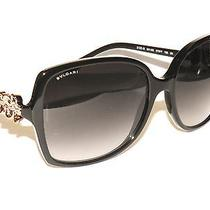 Bvlgari 8120b 8120 B 501/8g Black Flowers Bulgari Sunglasses Photo