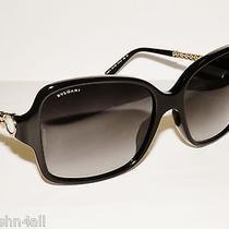 Bvlgari 8125h 8125 Black/gold/grey Gradient 501/8g  New Bulgari Sunglasses  Photo