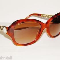 Bvlgari 8130hb 8130h 8130 Amber Havana/brown grad.529313 New Bulgari Sunglasses Photo