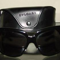 Bvlgari Black 8024 501/87 Sunglasses Silver Jackie O Big W/ Case Photo