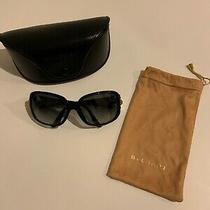 Bvlgari Black Authentic Sunglasses With Rhinestone Detailvelvet Pouch and Case Photo