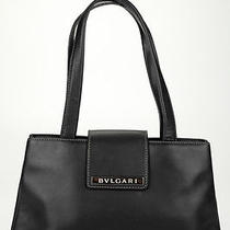 Bvlgari Black Leather Tote Handbag Hb1229 Photo