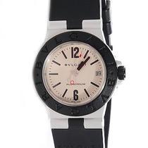 Bvlgari Bulgari Aluminum Rubber Diagono Quartz Watch Black Al 32 A Photo