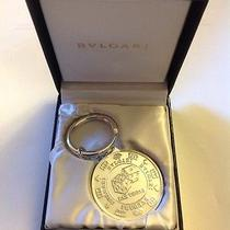 Bvlgari Bulgari Sterling Silver Las Vegas Round Keychain Key Fob Nib Brand New  Photo