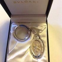 Bvlgari Bulgari Sterling Silver Oval Snowflake Keychain Key Fob Nib New  Photo