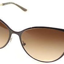 Bvlgari Bv 6070h 2000/13 Brown Metal Cateye Sunglasses Brown Gradient Lens Photo