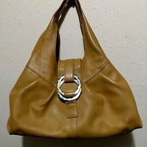 Bvlgari Chandra Olive Leather Purse Tote  Photo