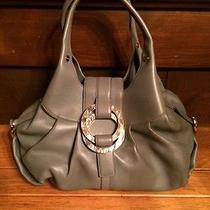 Bvlgari Chandra Purse Stone Gray Mother of Pearl Accent - New W Tags & Dustbag Photo