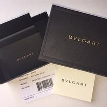 Bvlgari Gift Box W/ Authentication Card and Card Slip Photo