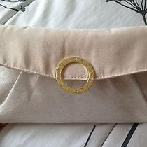 Bvlgari Gorgeous  Clutch Cosmetic Bag Pouch Beige/gold  Gold Logo Ring New Photo