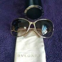 Bvlgari Light Gold Sunglasses Excellent Condition Photo