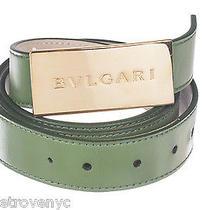 Bvlgari Loeael Green Leather Belt Photo
