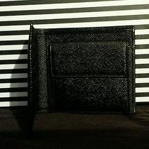Bvlgari Man's Italian Black Grain Leather Wallet Photo