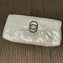 Bvlgari Parfums Small Linen Shimmer Clutch  Champagne/beige Photo