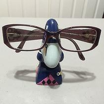 Bvlgari Purple Eyeglasses With Pink and Purple Crystal Accents Photo