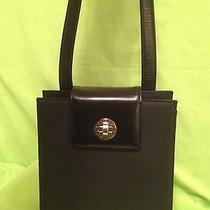 Bvlgari Purse Beautiful Chrome Detail. Nylon and Leather Euc Photo