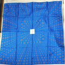 Bvlgari Silk Scarf Bvlgarimania Blue Orange Photo