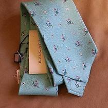 Bvlgari Tie - Turquoise With Birds and Flowers  Photo