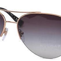 Bvlgari Women's Sunglasses Bv6068 59mm Pink Gold Plated 359/3c Photo