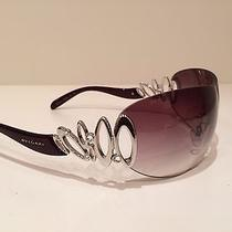 Bvlgari Wrap Sunglasses With Silver Whirl Never Worn. Photo
