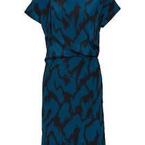 By Malene Birger Blue Abstract-Print Women 0 (Eur 32) Dress Silk 580- 365 Photo