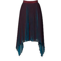 By Malene Birger Blue Women's Size 4 Pleated Asymmetrical Skirt 525- 379 Photo