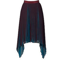 By Malene Birger Purple Women's Size 0 Pleated Asymmetrical Skirt 525- 748 Photo