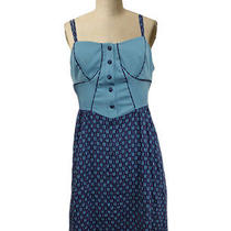 Bycorpus Dress Sz 4 Urban Outfitters Blue Vintage Styled Corset Gown  Photo