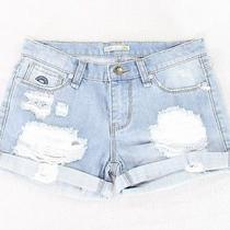 c&c California New Blue Women's Size 28 Distressed Denim Shorts 50- 378 Photo