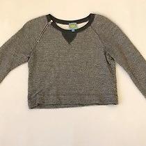 c&c California Womens Sweatshirt Crop Top  Size Small Gray Photo