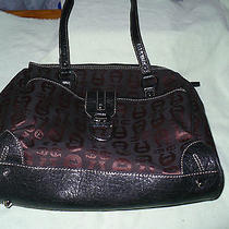C Etienne Aigner Bronze Black Polyester Tote Photo