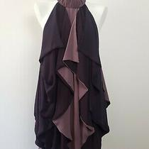 c&m Camilla and Marc Draped High Neck 'Liberty Frock Plum Splice' Dress 8 Photo