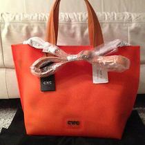 c'n'c' Costume National Orange Rubber Tote W/detachable Shoulder Strap (Nwt)600 Photo